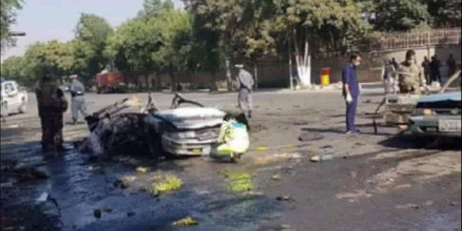 An explosion at the entrance to Kabul University
